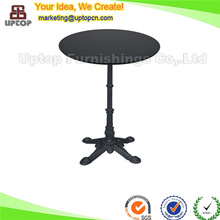 (SP-RT121) Black decorative antique wrought iron dining table for restaurant