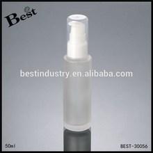 50ml bouteille en verre ronde avec pompe spray, offrir un service d'impression, échantillon gratuit