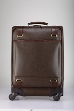 2015 new product vintage coffee color genuine leather luggage, China alibaba