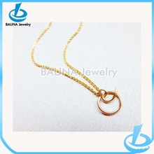 Wholesale popular simple fashion initial letter o pendant gold letter necklace