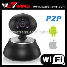 10m IR View Mini 1.0Megapixel P2P Pan/Tilt Wifi H.264 Cameras for Home Security