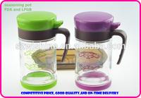 glass seasoning pot set 2pcs set