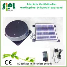 30 Watt Solar Round Shape Roof Air Exhaust Ventilation Fan with Power Adapter