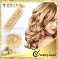 Extensão do cabelo virgem profunda onda/cor loira ponta-u extensão do cabelo, pro- extensão do cabelo colado