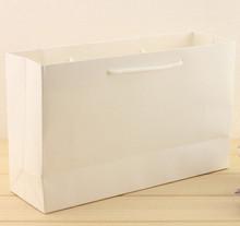 gloss white handle tote kraft paper bag