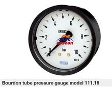 wika Bourdon tube pressure gauge back mount Panel mounting series 111.16 plastic pressure gauges