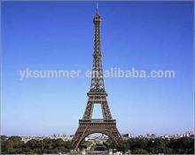 Famous France Eiffel tower metal sculpture