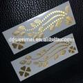 Inspirado jóias Metallic tatuagens temporárias