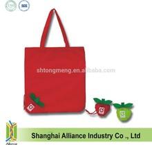 190T Polyester Fruit Style Foldable Apple Promotion Bag/Apple Shaped Foldable Bag