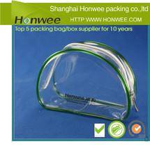 clear plastic cosmetic pvc zipper bag