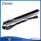 1U Aluminum 8ways French PDU 250VAC 50-60Hz 16A with switch
