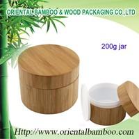 200ml cream jar bamboo cream jar empty container pp plastic jar