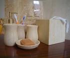 Luxury Hotel Crema Marfil Marble Bathroom Accessories Set