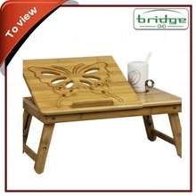 Adjustable and Multi-function Bamboo Laptop Desk