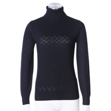Black round collar women's cashmere sweater 2015