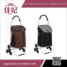 2014JIAFEI hot sale product shopping cart with bag ,folding personal shopping cart with6 wheels