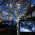 decorazione albero di natale bianco freddo 10m 100 led led fata stringa di luce