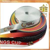 Personalized Printed gross grain ribbon printing/custom printed natural cotton ribbon