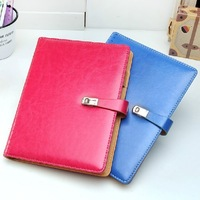 Promotion leather diary lock and key