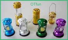 Colorful windproof aluminum small camping lantern