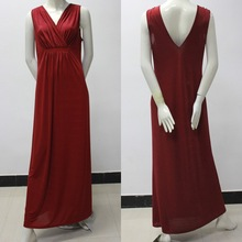 oem new design hot selling good looking elegant dresses women maxi red color dress