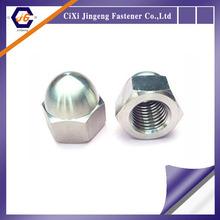 white zinc plated cap nut