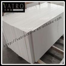 Vatro K010 Hot Sale Pure White Quartz Stone Tiles/Pure White Engineered Quartz Countertop Slabs/Pure White Solid Surface Stone
