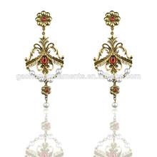 Statement Waterdrop Leaf Drop Earrings Wholesale Indian Style Women Big Jewelry