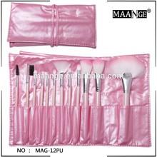MAANGE 12pcs pu bag make up brush for girls
