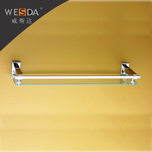 Wesda High Quality Bathroom Tempered Glass Wall Shelf With Tower Bar c005