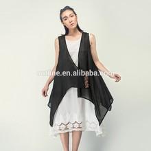 MOQ 20 pcs New Arrival Ethnic Style Hand Embroidery Sleeveless Wear 2 Vest Cardigan