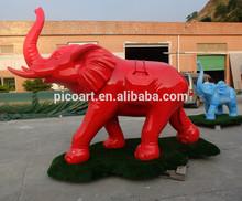 New design big fiberglass elephant sculpture for outdoor