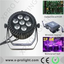 High brightness mini par light 7x15W rgbwa+uv 6in1 led par can colorful wash light