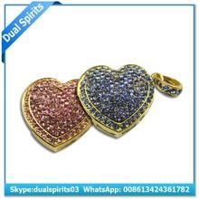 2gb 4gb 8gb A class branded imported chip stone heart shape crystal Pendants diamond usb flash drive