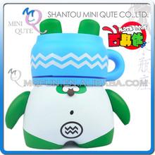 Mini Qute Mask Bear 10.5cm Aquarius 12 Constellations Kawaii plastic reloading action figure Cartoon toy car Decoration doll