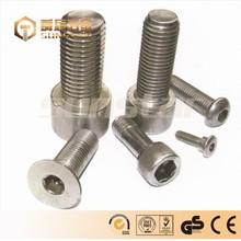 Stainless Steel Socket Cap Screw, Plain Finish, Flat Head, Internal Hex Drive, Meets DIN 7991