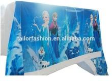 Disposable tablecloth frozen party decoration