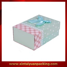New folding Christmas paper gift packing boxes & Wave point stripes made the carton & Appral packing paper box