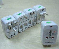 Universal Travel Adapter with USA/Australia/Europe/UK worldwide plugs