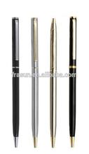 Hot sale twist Slim pen/Metal slim pen/stainless steel metal slim pen for hotel/organization/conference/business promotion