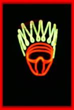 Halloween mask/face mask night mask/wholesale led mask