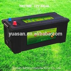 Yuasan Powerful Calcium Silver N200 MF Batteries for Trucks MF Auto Battery 12V 200AH -70027MF
