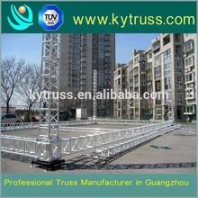 curved aluminum lifting truss lighting tower truss