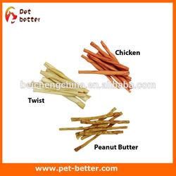 pet treats ! dog chew twist sticks toy dog pressed,knotted bone rawhide dog bone