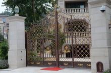 Wrought Iron Modern House Iron Garden Gate Design for Metal Gates