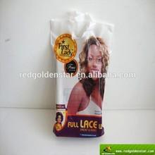 White PE plastic flexiloop shopping bag with logo printed