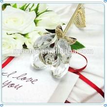 Artificial Delicate Glass Rose Keepsake For Wedding Favor