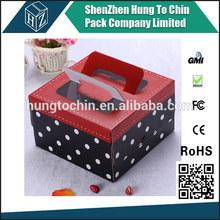 Birthday Wedding Printed Packaging cake box with handle