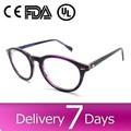 2015 caliente de la venta de los hombres las mujeres marco de acetato de nuevo modelo de gafas gafas de marco de anteojos recetados baratos verde gafas de marco b40224