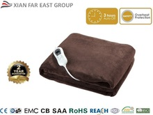 CE GS Cosy Soft Fleece 120W 3 Temperature Auto Switch Off Electric Microplush King Size Heated Over Blanket, Heated Throw